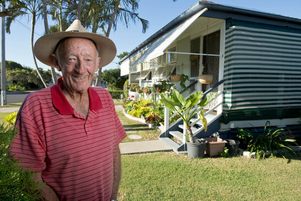 Ian Ramsay has lived in this housing commission home with his wife Cynthia for 19 years and considers it his own.
