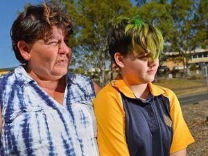 Mum, daughter fight Gladstone school over girl's green hair