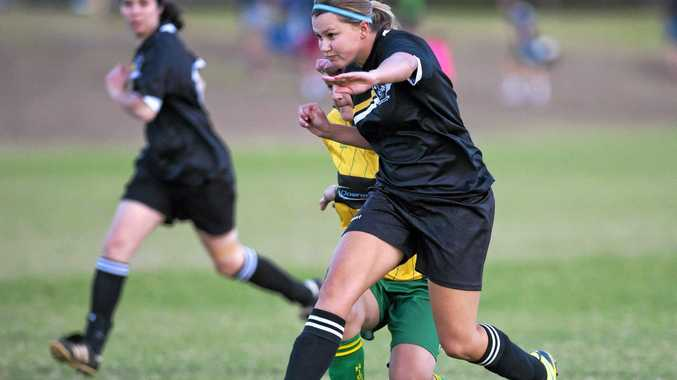 ON THE BALL: Breanna Tilly of West Wanderers goes on the attack in her side's win against Highfields.
