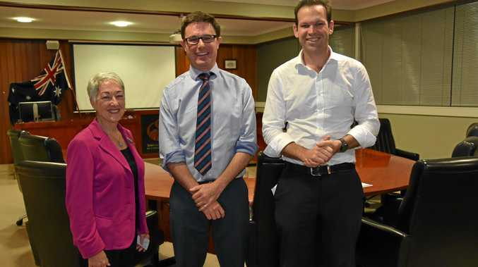 FAIR GO: Tracy Dobie, Senator Matt Canavan and David Littleproud.