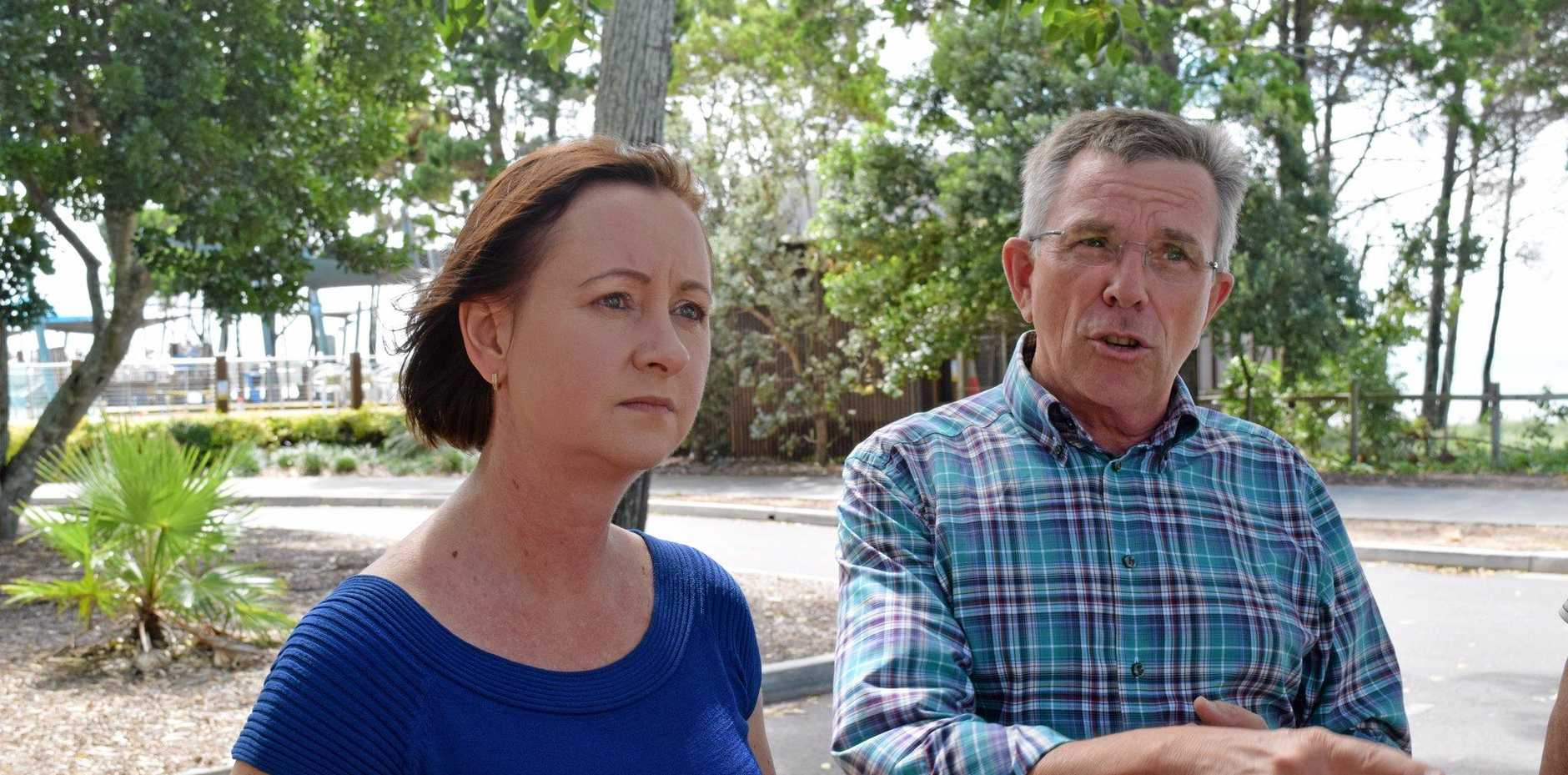 FLOUTING ADVERTISING STANDARDS:  Attorney-General Yvette D'Ath and shadow attorney-general Ian Walker don't see eye to eye on a way to regulate Wicked Camper slogans.