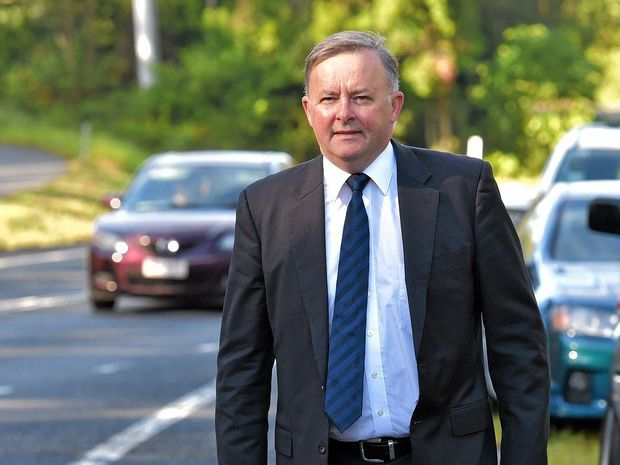Labor frontbencher Anthony Albanese inspected sections of the Pacific Hwy near Port Macquarie today.