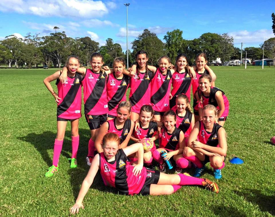 The Tweed Coast Tigers under-13s girls' side recorded their first win of the season against Brunswick on Sunday.