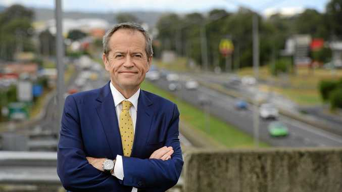 Federal opposition leader Bill Shorten visited Oxley to announce a major upgrade to the Ipswich Motorway.