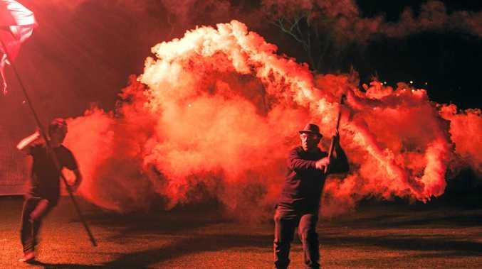 Lismore Lantern Parade fiery finale. Photo Contributed Kalem Horn