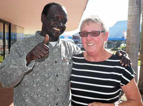 Reverend Jan McLeod with Kassimiro Yanga.