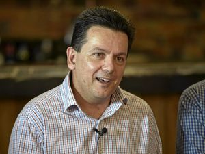 Senator Nick Xenophon chases senate votes in Maleny