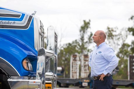 Jon Kelly faces off with his latest truck, Big Dog 5. Photo Contributed