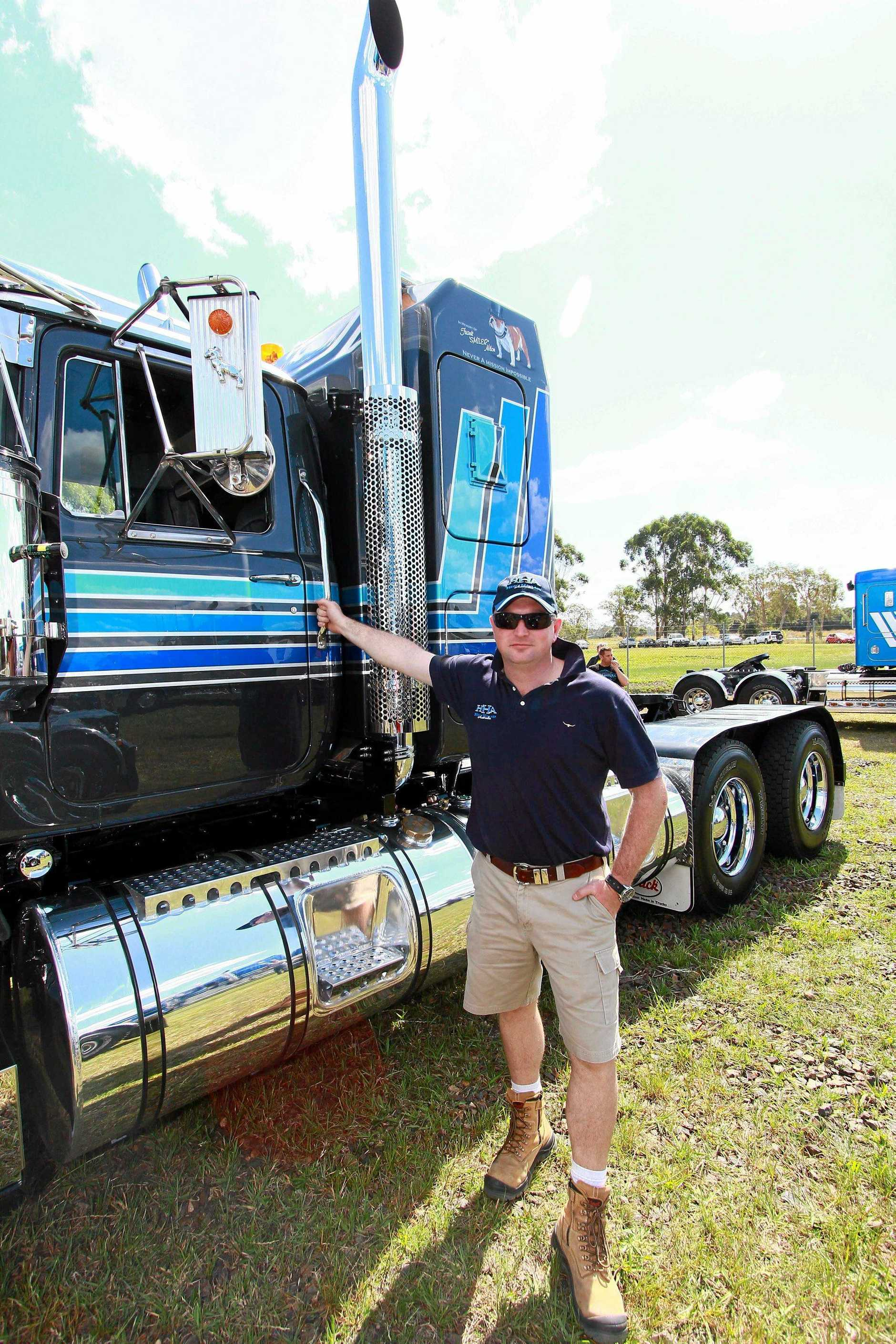 After eyeing the truck off for several years before acquiring it, Jon Kelly couldn't be happier with his 'restored' all original driveline 1990 500hp V8 Value Liner and admits to having a soft spot for the former icon of the road.  Casino Truck Show trucks on display, V8 Mack Value Liner Jon Kelley unveiled at show. Photo Chris Blanchard / Big Rigs