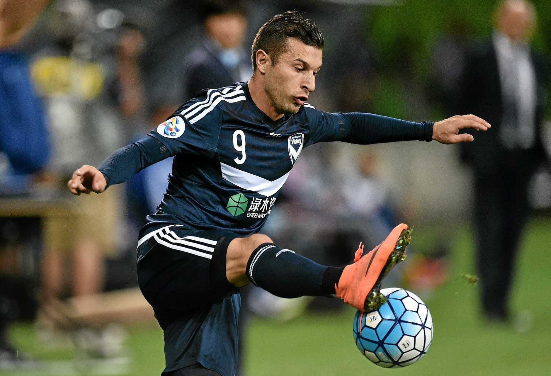Melbourne Victory player Kosta Barbarouses.
