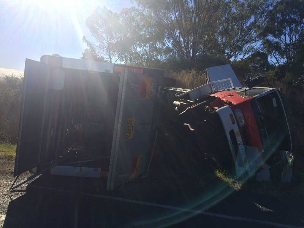 The scene of the crash south of Toowoomba.
