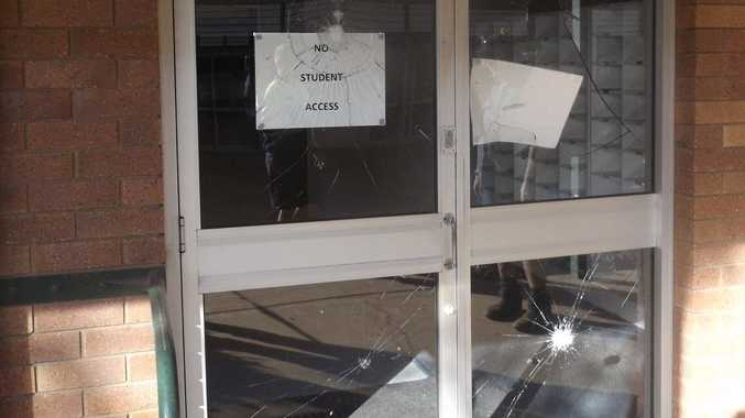 Vandals have caused in excess of $80,000 of damage at the Oakey State High School.