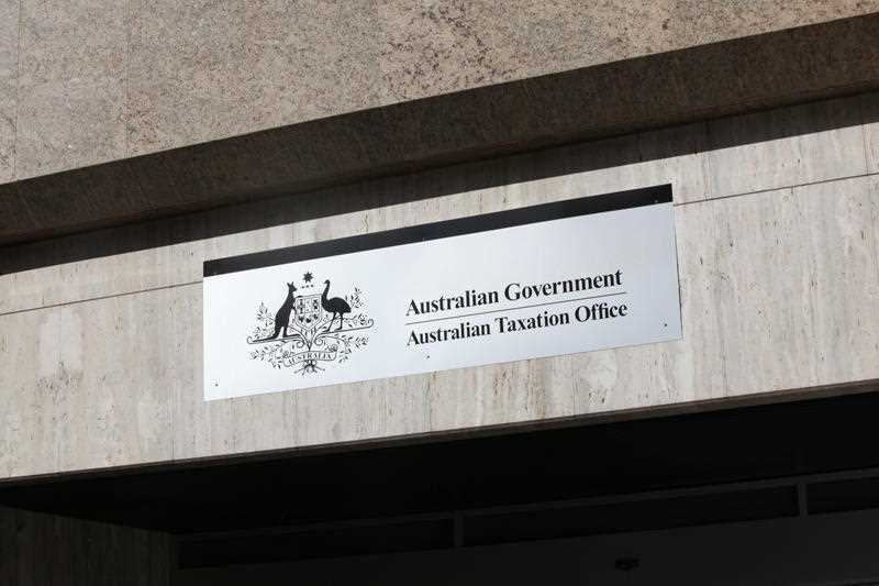 The exterior of the Australian Government Taxation Office in Sydney on Monday, May 28, 2012.