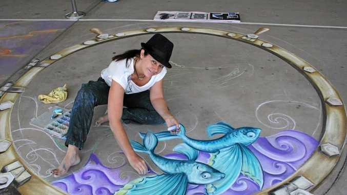 COMING ALIVE: Three-dimensional chalk art from artist Amelia Batchelor will be on display as part of the Murwillumbah Art Trail this week.