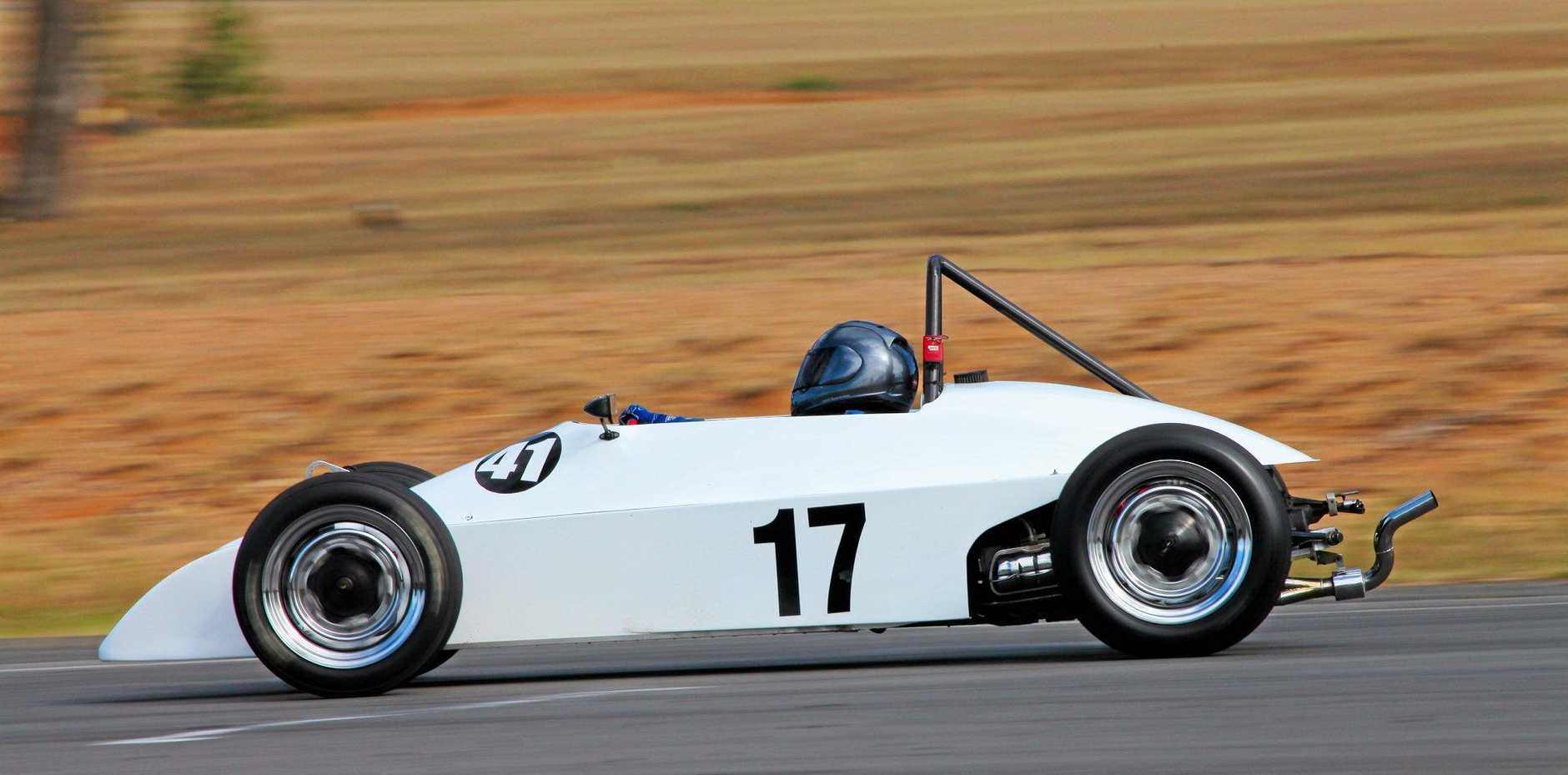 SPEED: Warwick and District Sporting Car Club secretary John Torr placed in the Queensland Super Sprints at Morgan Park Raceway.