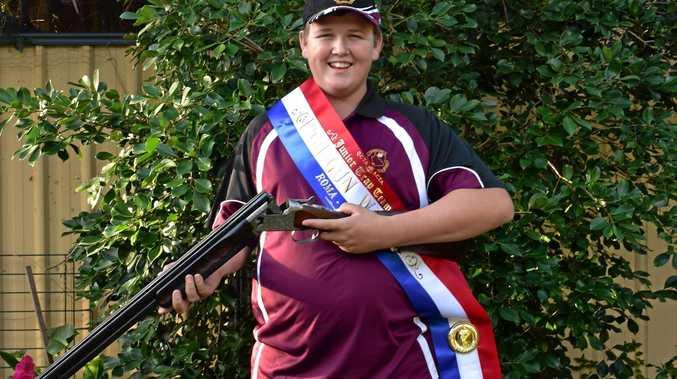 BULLSEYE: Shooting champion Aidan Donaldson