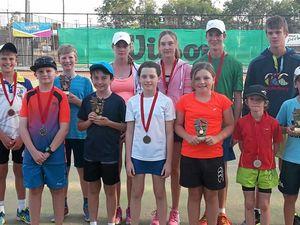 Junior tennis tournament nets a crowd