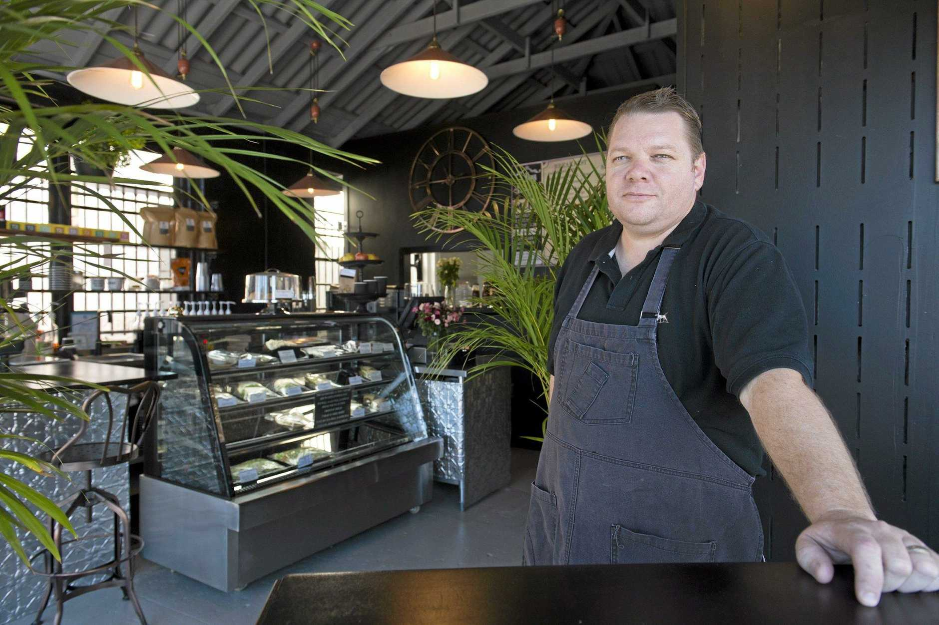 PONY ESPRESSO: owner Glen Hoey, pictured here shortly after the cafe opening, is looking for expressions of interest.