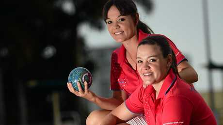 Cassandra Millerick (right) of Caloundra Bowls Club is ready to join sister Bolivia (left) in the national bowls team. Photo: Iain Curry / Sunshine Coast Daily