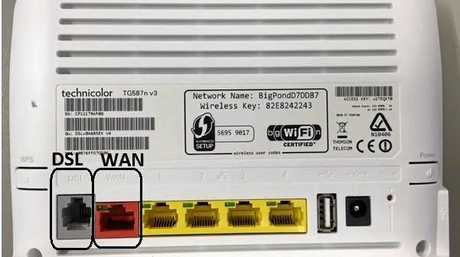TG587 DSL and WAN