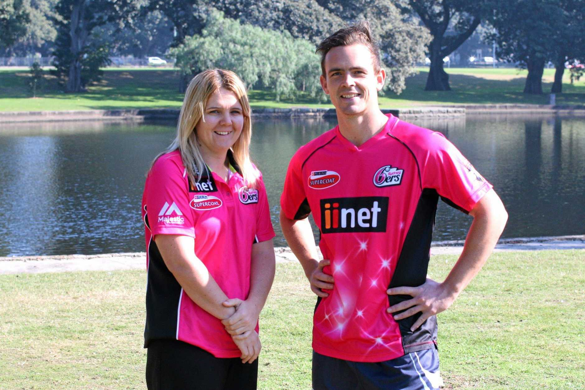 WHAT ARE FRIENDS FOR: Sydney Sixers and NSW cricketer Steve O'Keefe will be part of fundraising activities for mate Melissa Quinn in Casino this Saturday.