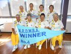 South Lismore's winning No 4 pennant team. From left, Gwen Burke, Annette James, Nola Fairfull, Shirley Bryant, Patricia Lyon, Elizabeth Reynalds, Nancy Negent and Elaine Anderson.