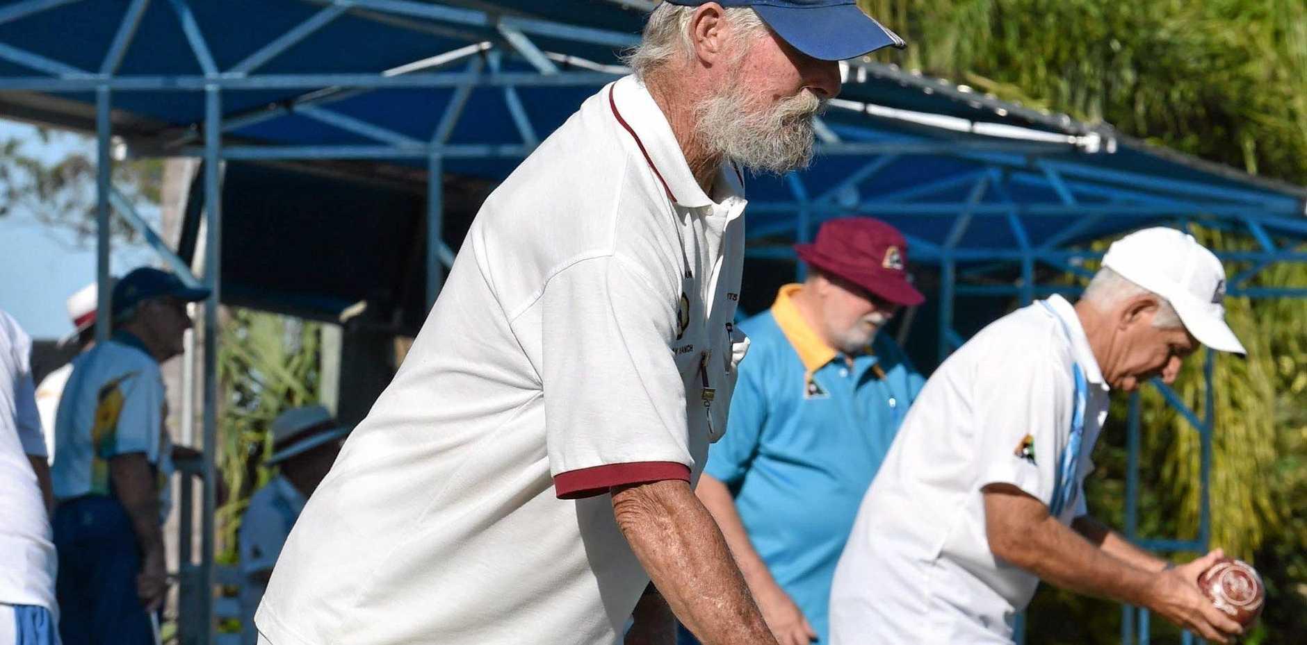 Bill Karran at Doon Villa Bowls Club.