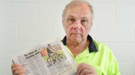 Laurie Simon, the father of Darrell, is waiting to find out if the remains found at Laidley were in fact his son.