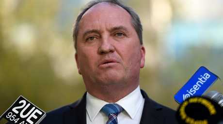 Deputy Prime Minister Barnaby Joyce speaks at a press conference at Parliament House in Canberra on Wednesday, April 27, 2016