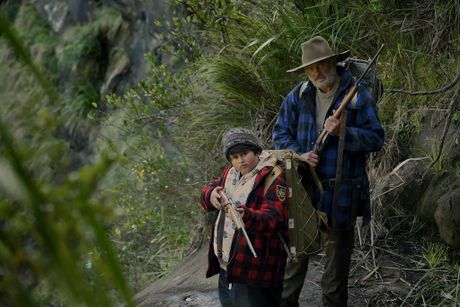 Julian Dennison and Sam Neill in a scene from the movie Hunt for the Wilderpeople.