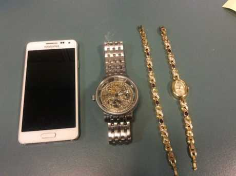 Police are seeking the owners of these items found in a vehicle stopped in Newtown yesterday.