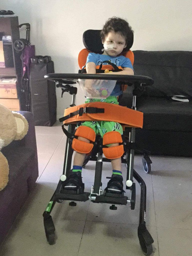 Oscar Rochford is only three years old but is facing a battle of a lifetime. He suffers from severe epilepsy, level five cerebral palsy, vision impairment and also eats through a feeding tube.
