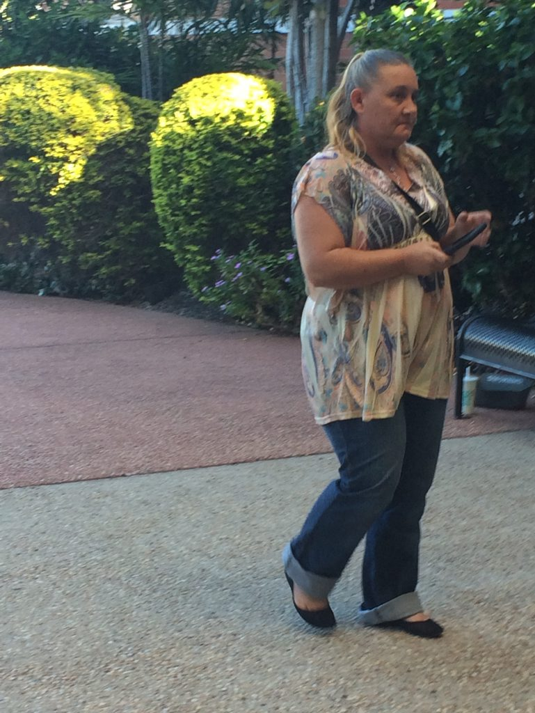 Alicia Starr Carlson walks into court before she was jailed over a $17,000 Centrelink fraud. Photo Ross Irby / The Observer