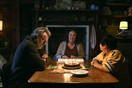 Sam Neill, Rima Te Wiata and Julian Dennison in a scene from Hunt for the Wilderpeople.