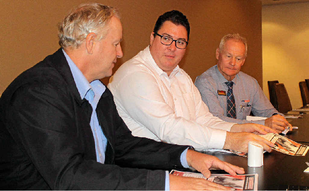 ELECTION ISSUE: Blacks Real Estate director Greg Lewis (left), Dawson MP George Christensen and PRD Nationwide Mackay principal Greg Chappell discuss negative gearing.