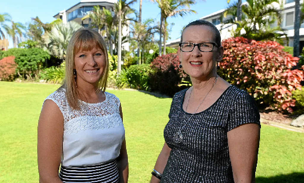 WELL-DESERVED: Retreat co-ordinator Fiona Hyslop with Sue Bradshaw who was one of five to win a Mother's Day competition for a weekend retreat at Rosslyn Bay Resort.
