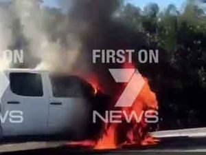 Vehicle fire causes traffic chaos on Ipswich Mwy