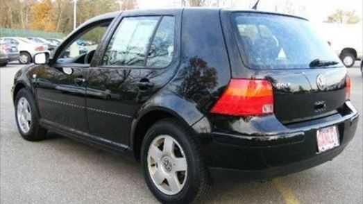 The black Volkswagen was stolen from the garage.