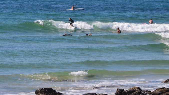 Wave of the day at Alexandra Headland at 11. Photo: John McCutcheon / Sunshine Coast Daily