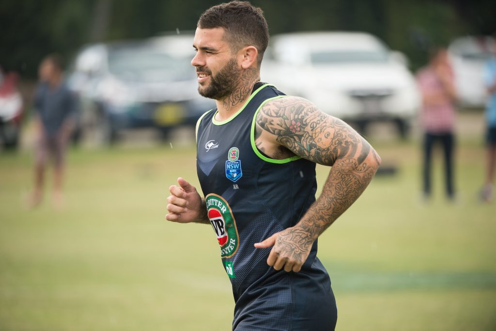 NSW Blues halfback Adam Reynolds training at Coffs Harbour's Novotel Pacific Bay Resort. Photo: Trevor Veale