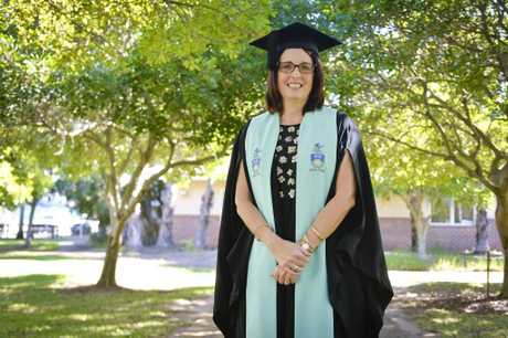 CQUniversity graduate Alannah Shore was proud to speak at yesterday's ceremony.