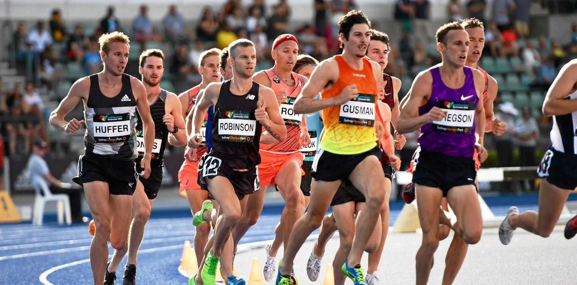 Corindi Beach middle distance runner Jordan Gusman pictured here in Sydney is training in the US hoping to qualify for the Rio Olympics.