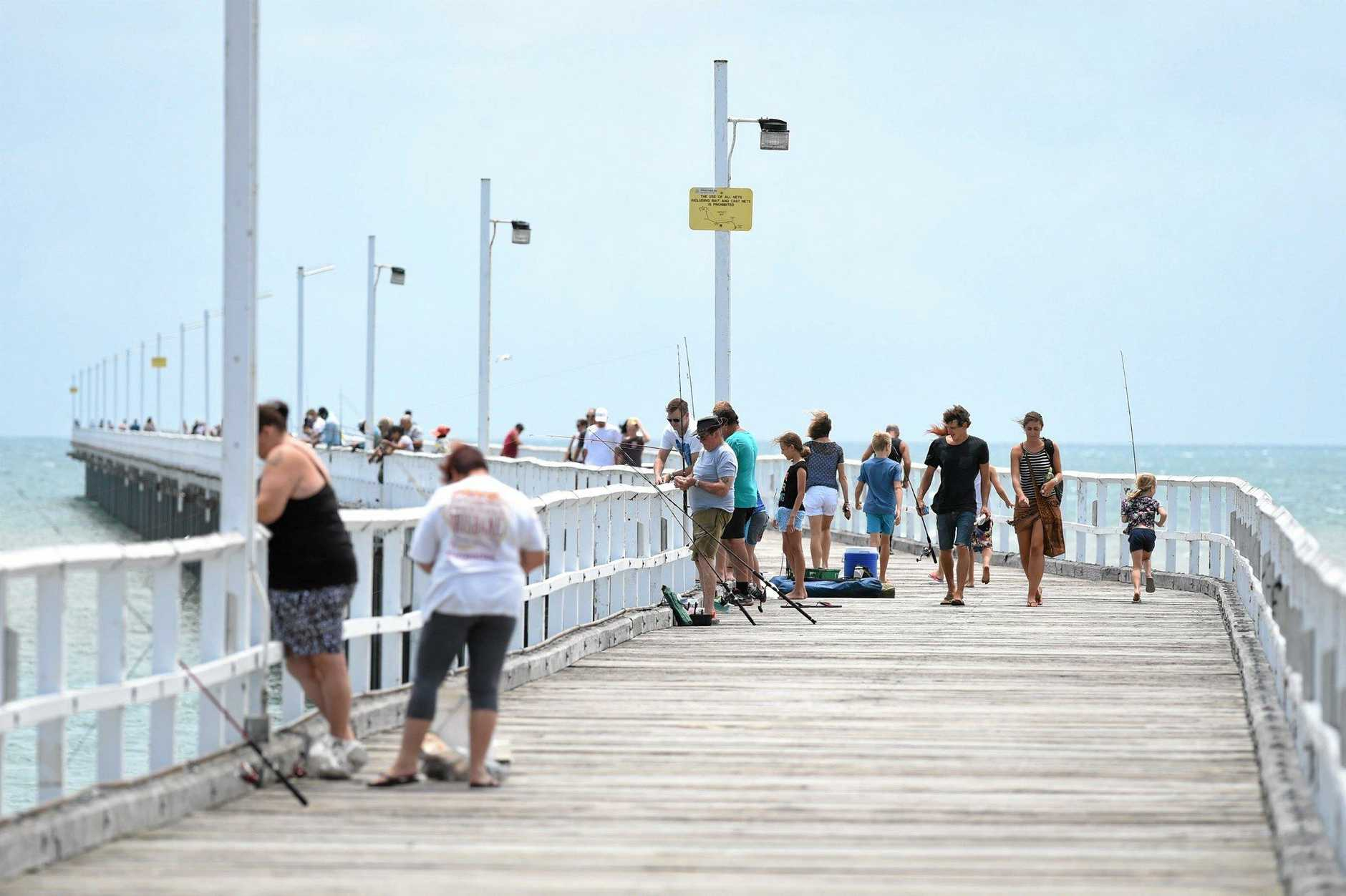 URANGAN PIER: The pier is already an attraction for fishermen and visitors, but one reader has proposed an artificial reef to add to the appeal.