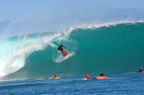 Sunshine Coast surfer Matt Dobel at G-Land in Indonesia.