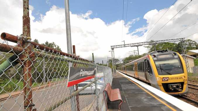 Scaffolding at Palmwoods station that has been in situ since 2009, costing thousands of dollars over that time. Photo: Iain Curry / Sunshine Coast Daily