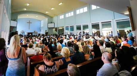 Katie Bain's funeral at All Saints Anglican Church, Murwillumbah.