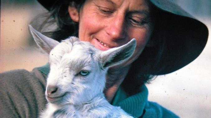 FOUND HER NICHE: Daph had a way with animals, and had her own mob of goats.