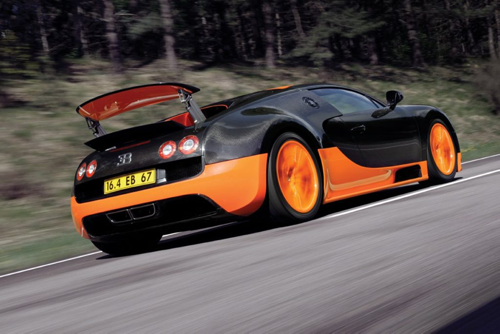 BUGATTI VEYRON: Sabine's seen the happy side of 400kmh (!) in one. Brave girl.