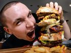 The Nines has been running a massive burger challenge that you have to eat in 6 minutes. Josh Bidencope has accepted the challenge and now on his fourth.