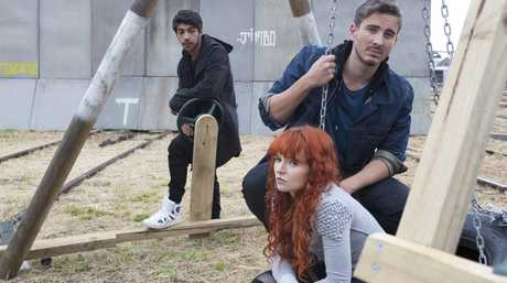 Hunter Page-Lochard, Stef Dawson and Ryan Corr star in the TV series Cleverman.